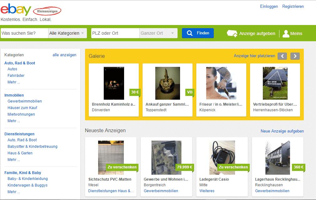 Ebay Kleinanzeigen Etwas Verkaufen