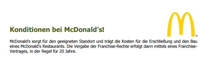 es gibt viele franchise unternehmen fr die man sich bewerben knnte warum sollte man sich also gerade fr mcdonalds entscheiden - Mc Donalds Bewerbung