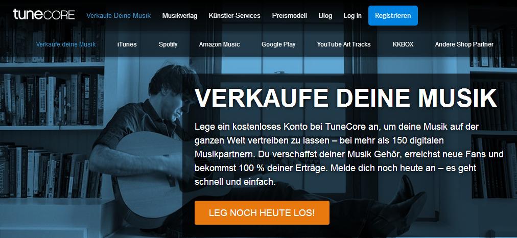 TuneCore Musik verkaufen