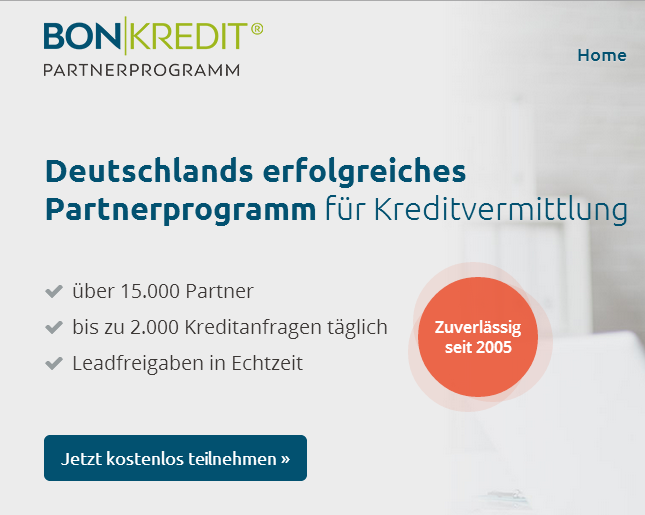 Bon Kredit Partnerprogramm
