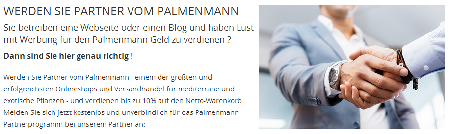 Palmenmann Partnerprogramm