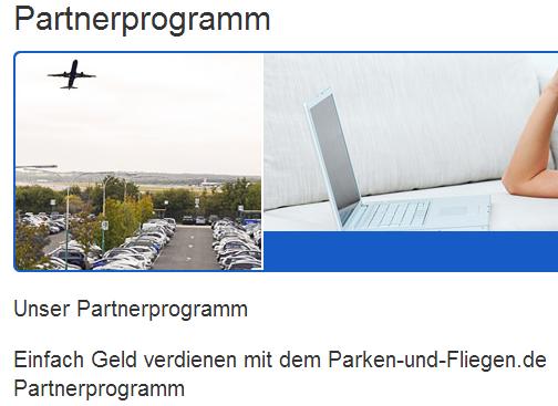 Parken und Fliegen Partnerprogramm